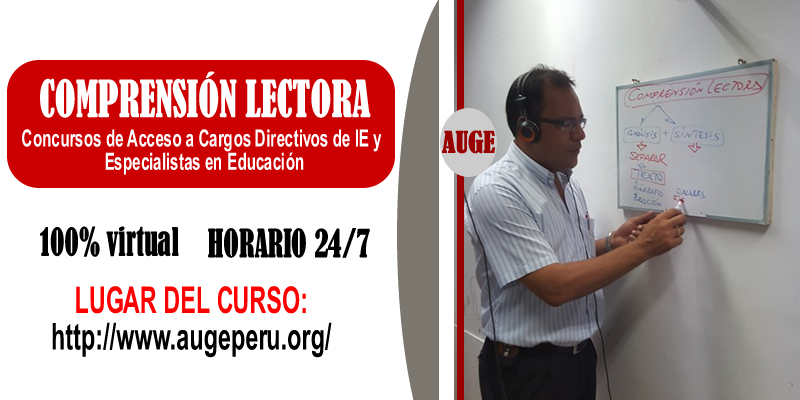 COMPRENSIÓN LECTORA CONCURSO DE DIRECTIVOS DE IIEE